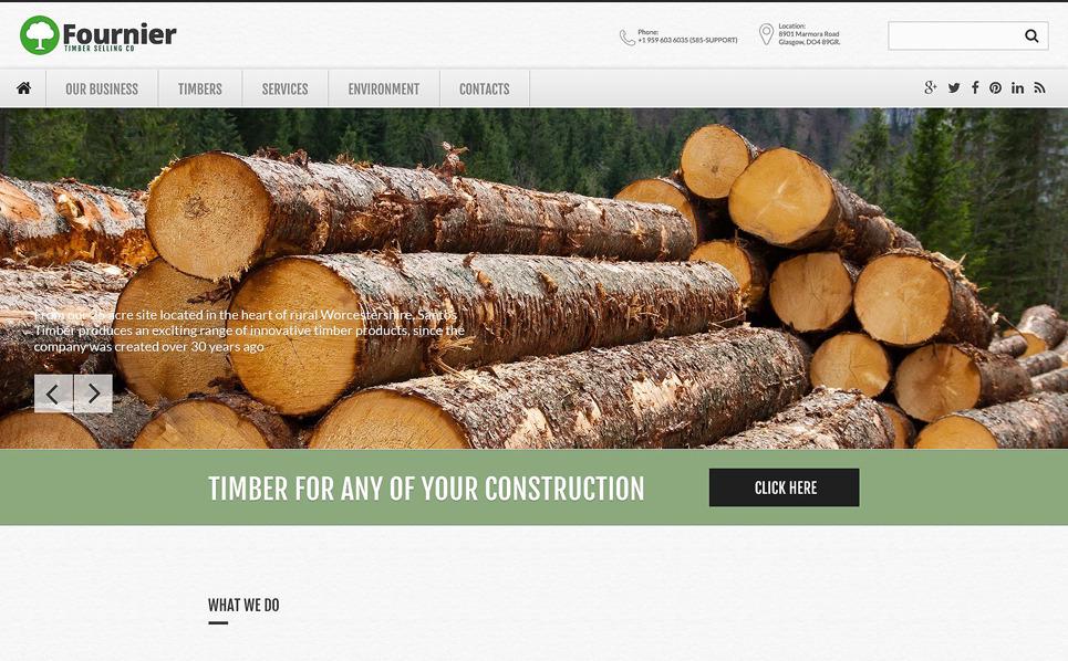 Адаптивний Шаблон сайту на тему деревопереробка New Screenshots BIG
