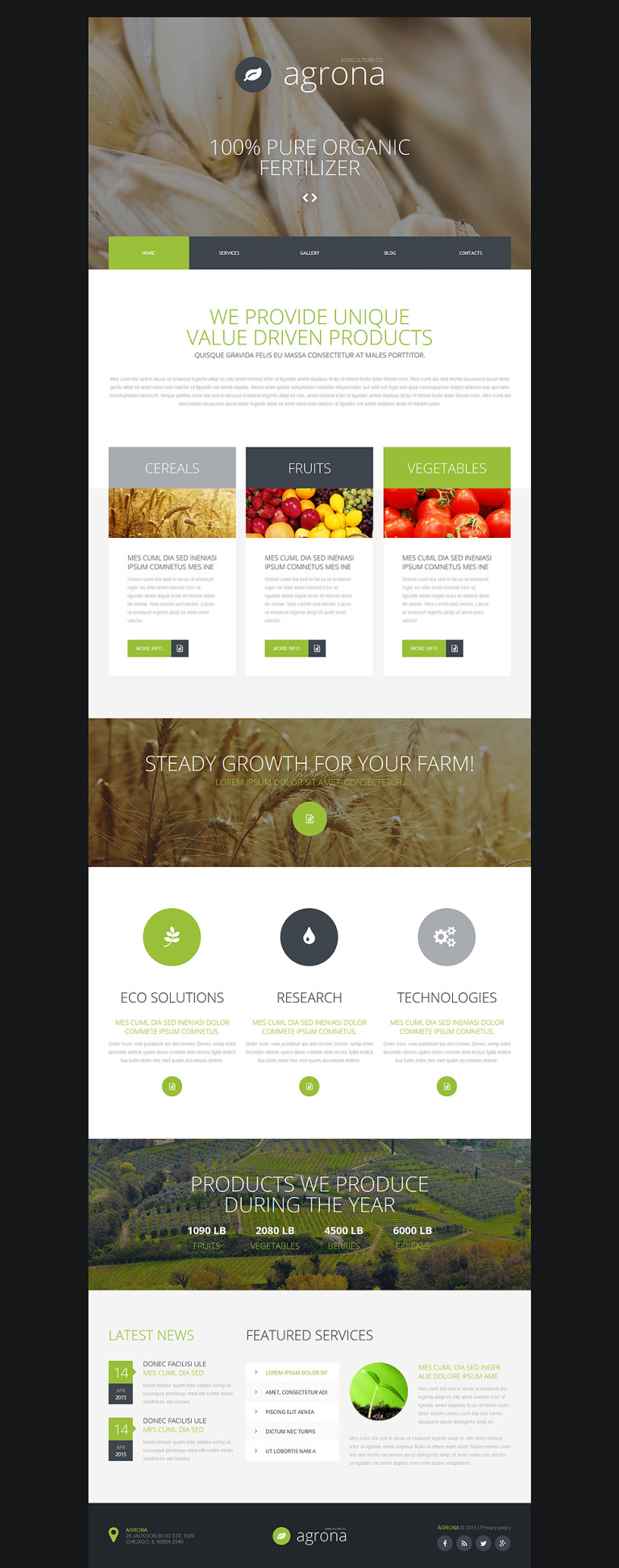 Agriculture Company Joomla Template New Screenshots BIG