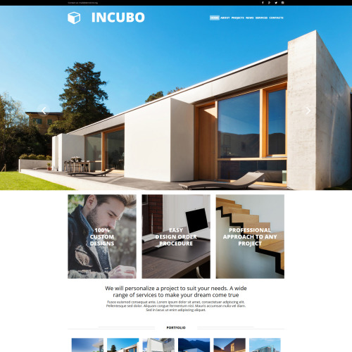 Incubo - MotoCMS 3 Template based on Bootstrap