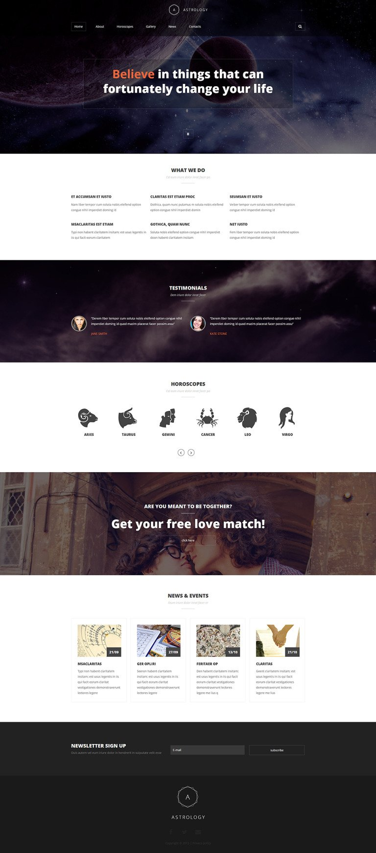 Astrologist Portfolio Joomla Template New Screenshots BIG