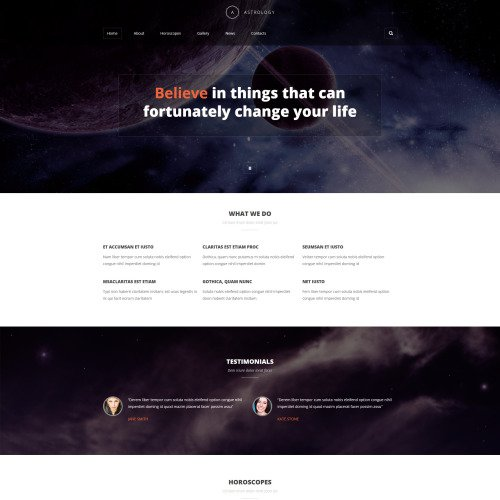 Astrology - Joomla! Template based on Bootstrap