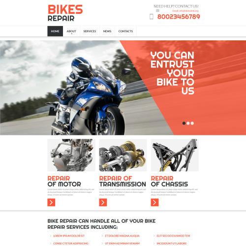 Bikes Repair - MotoCMS 3 Template based on Bootstrap