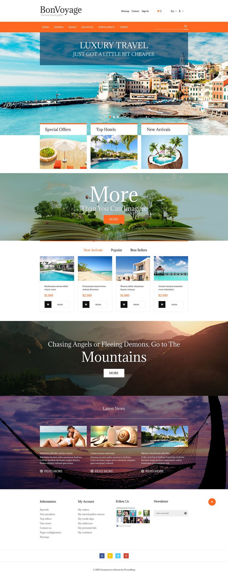 BonVoyage PrestaShop Theme New Screenshots BIG