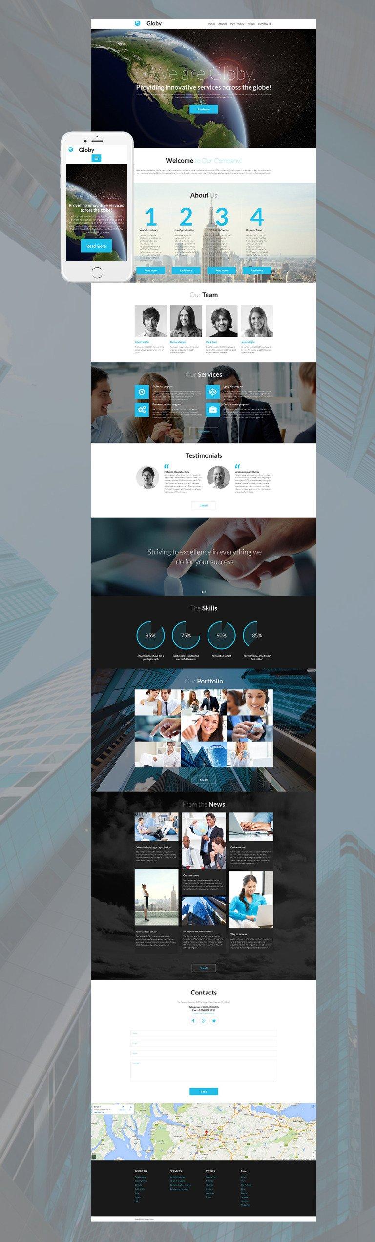 Business Responsive Moto CMS 3 Template New Screenshots BIG