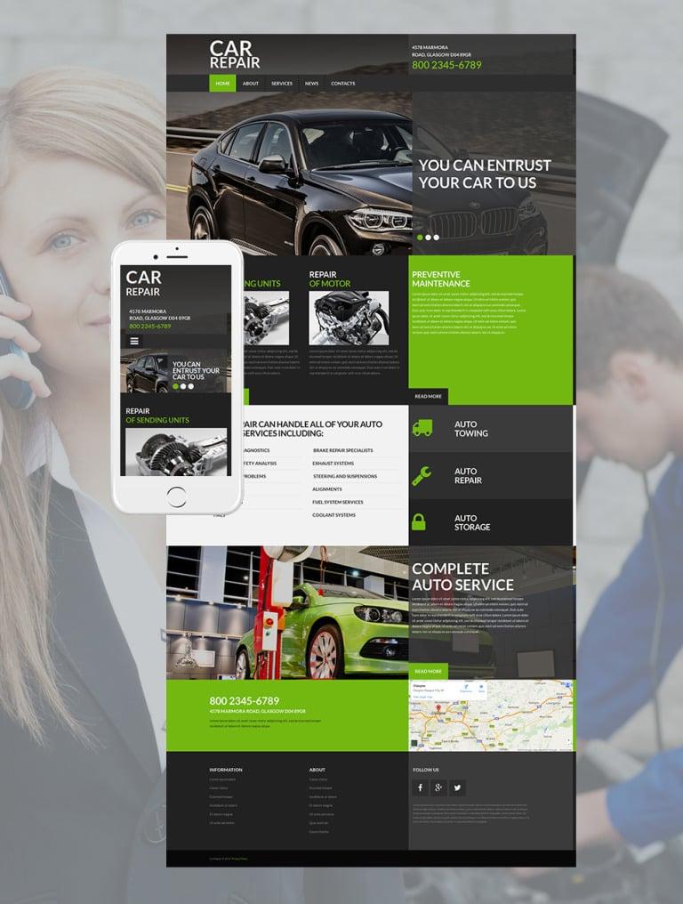 Car Repair Responsive Moto CMS 3 Template New Screenshots BIG