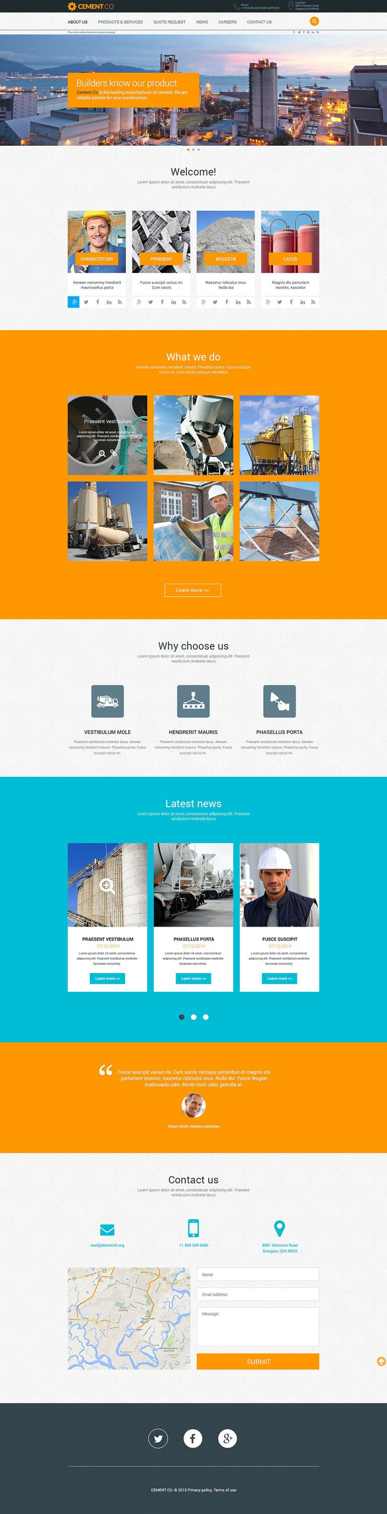 Cement Company Website Template New Screenshots BIG