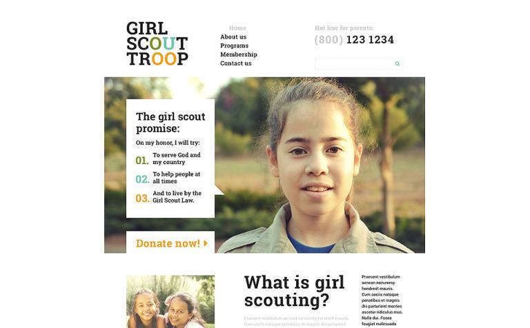 Children Scout Troop Website Template