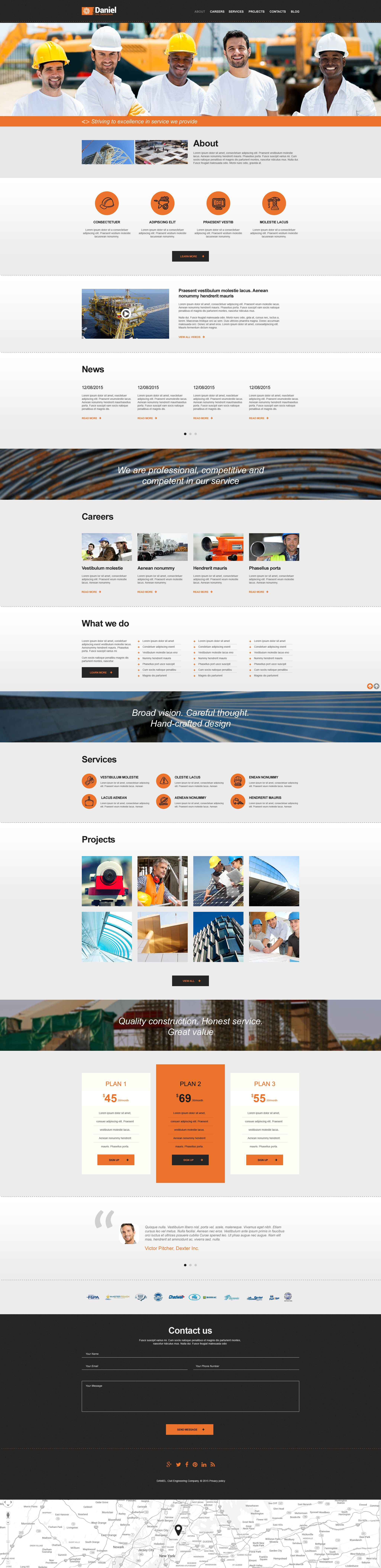 Civil Engineering Muse Template