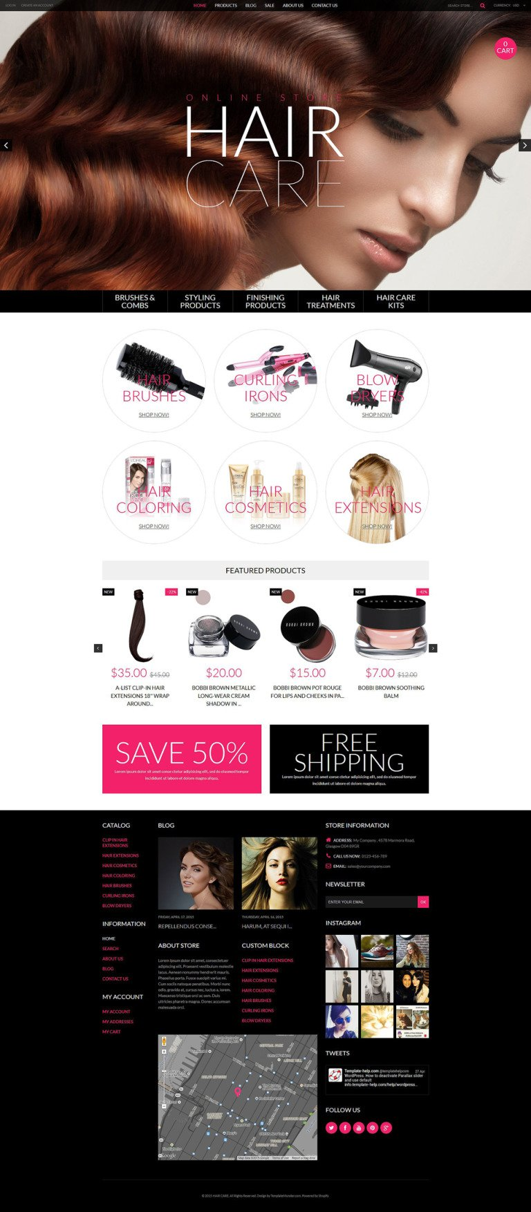 Cosmetics Store Responsive Shopify Theme New Screenshots BIG
