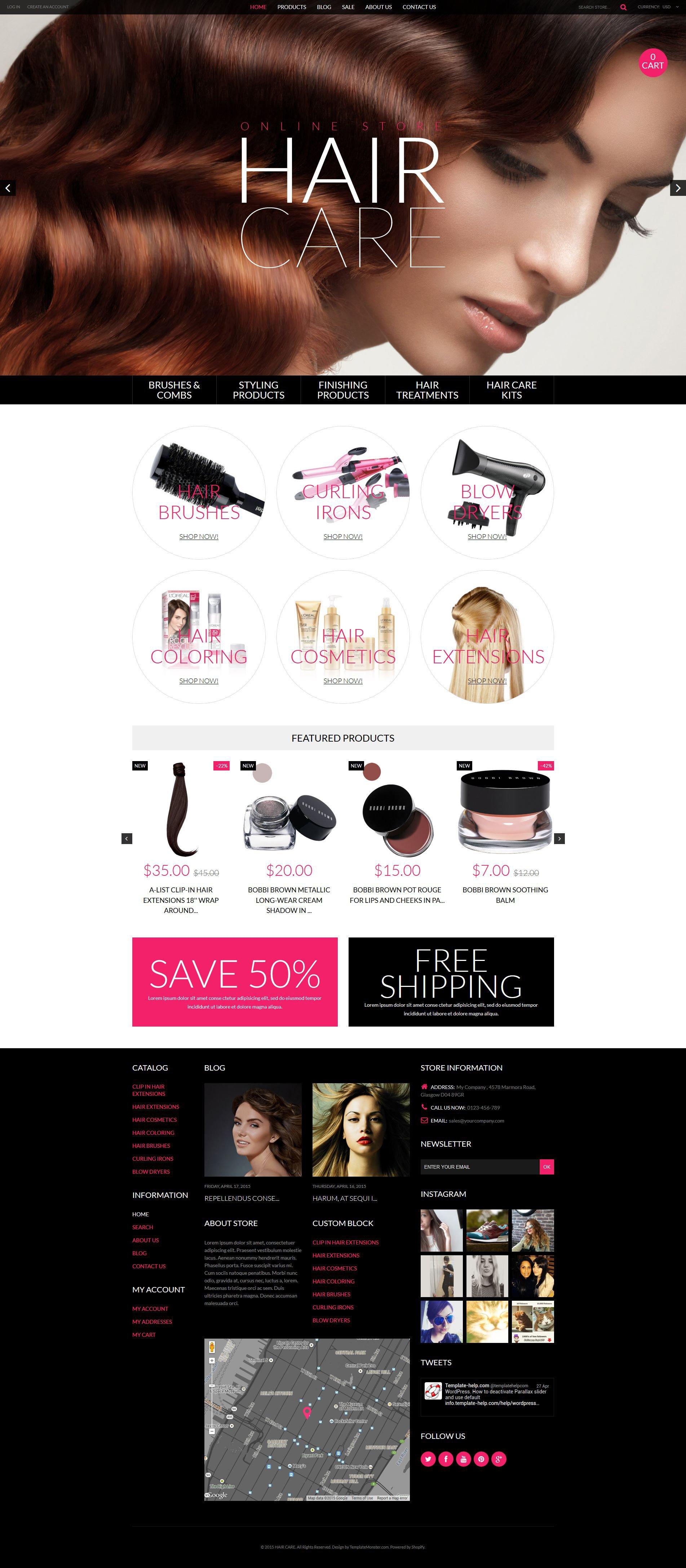 Cosmetics Store Responsive Shopify Theme - screenshot