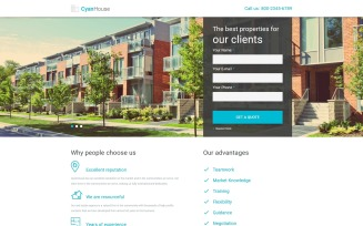 Cyan House - Real Estate Agency Classic HTML Landing Page Template