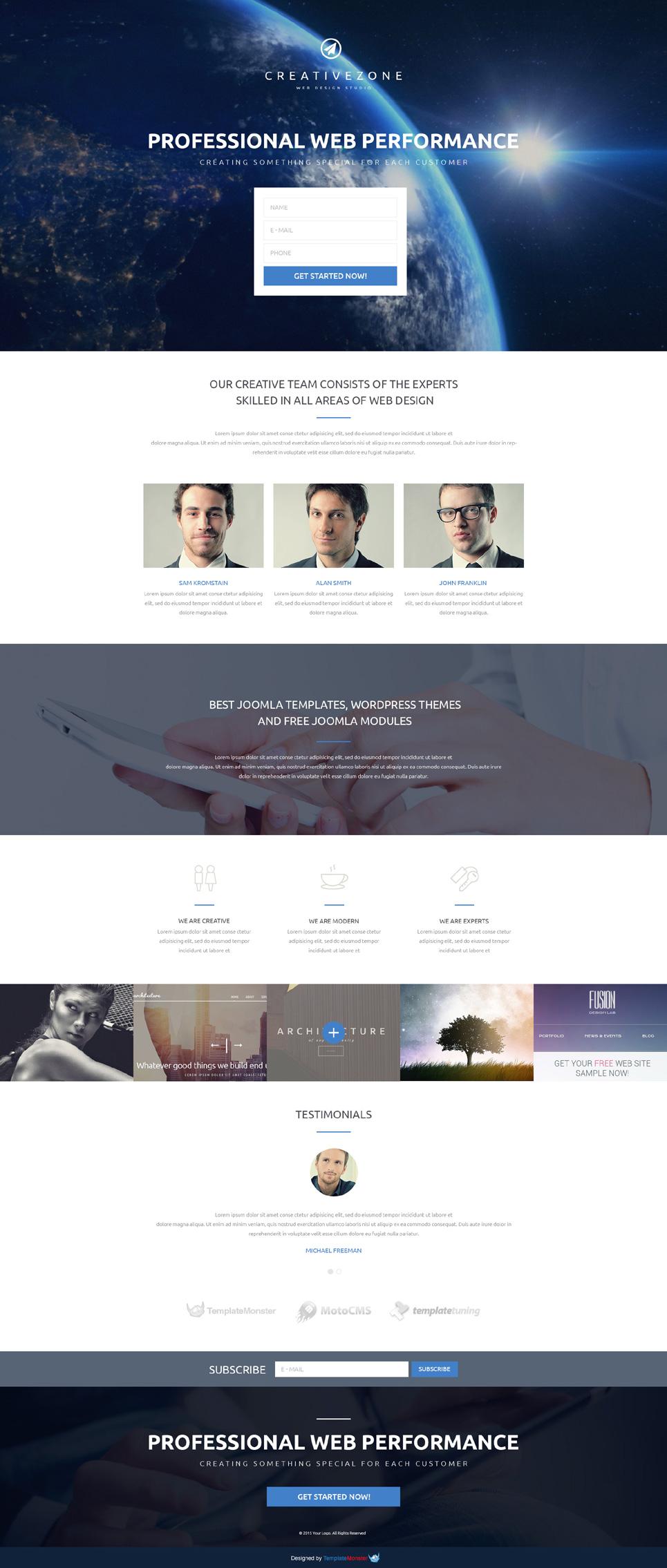 Design Studio Free Landing Page Template 53775