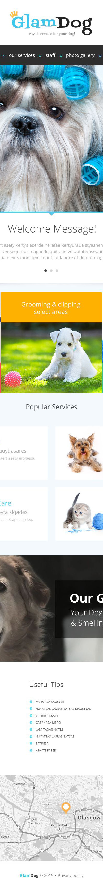 Dog Grooming Website Template