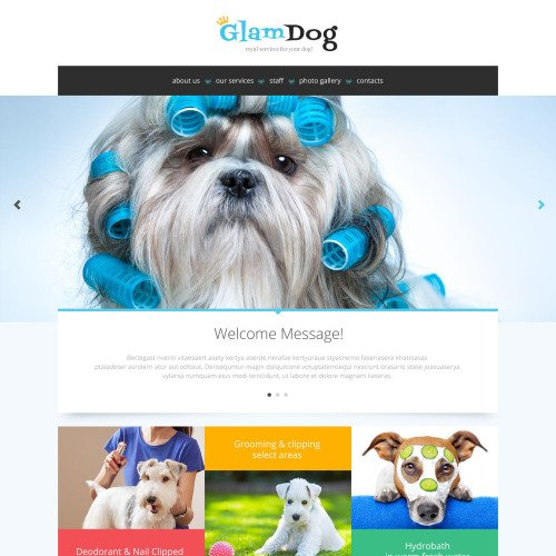 Glam Dog - Responsive Website Template