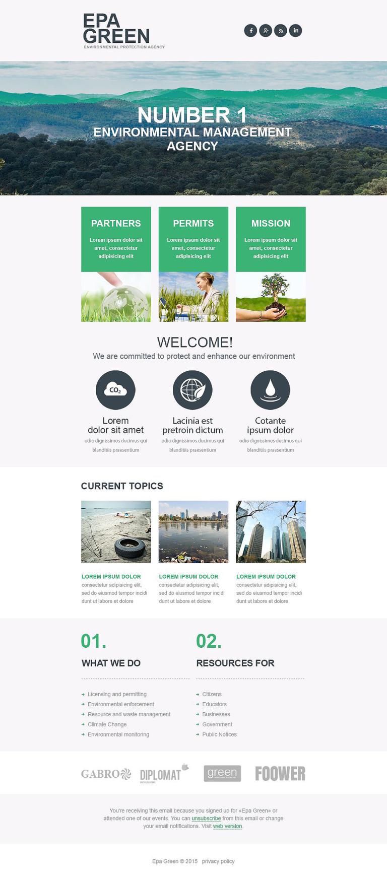 Environmental Responsive Newsletter Template New Screenshots BIG