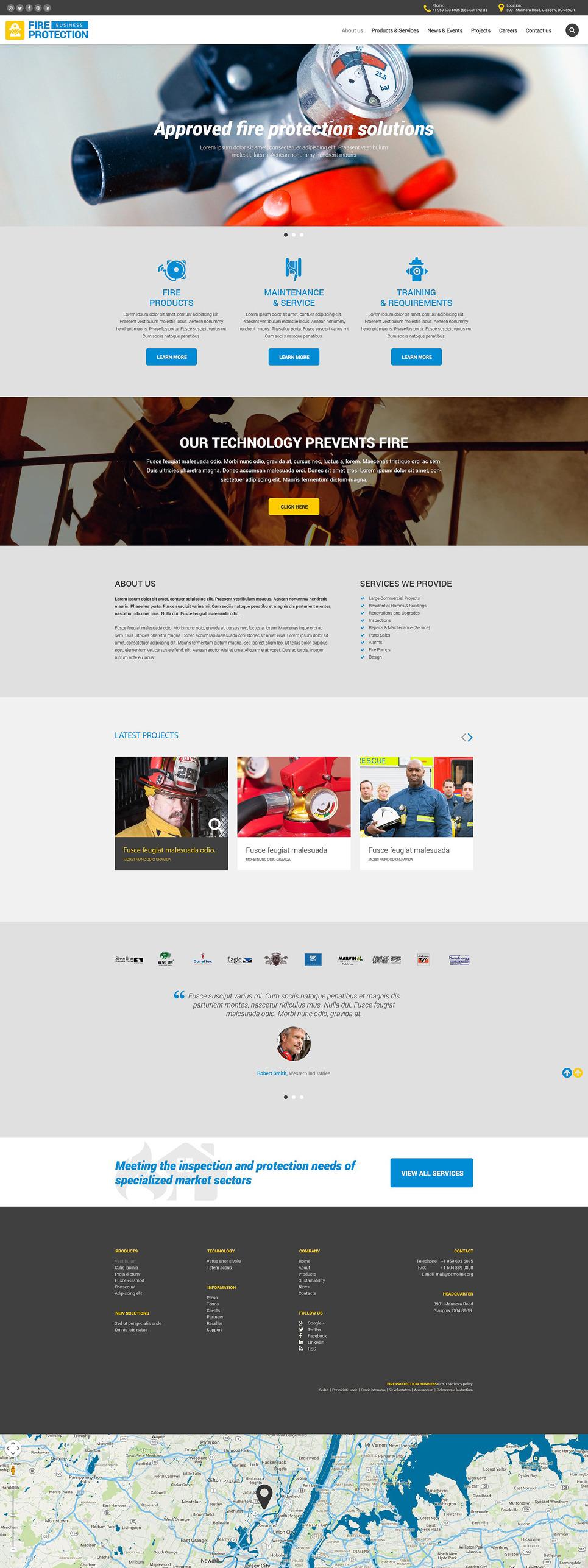 Fire Protection Business Website Template New Screenshots BIG