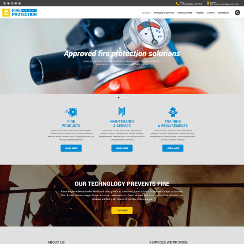 Fire Protection  - Responsive Website Template