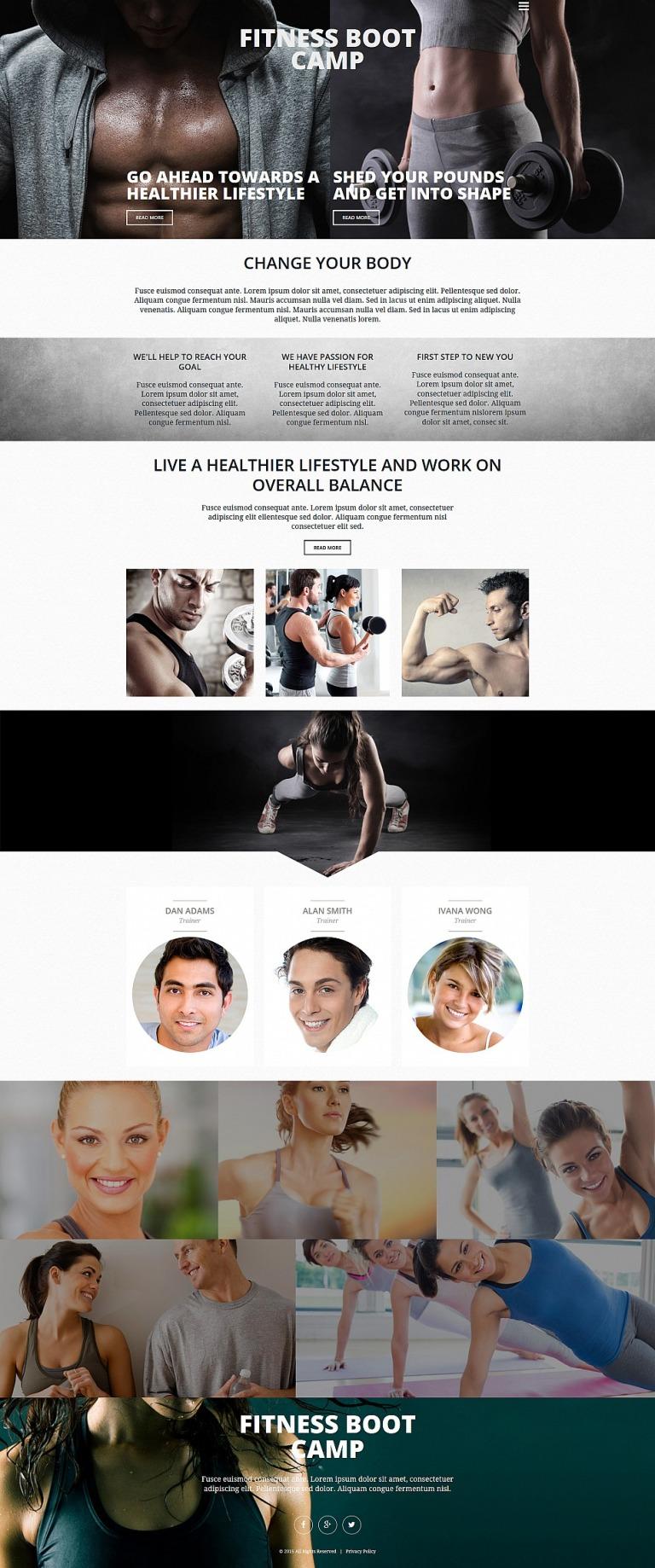 Fitness Responsive Moto CMS 3 Template New Screenshots BIG