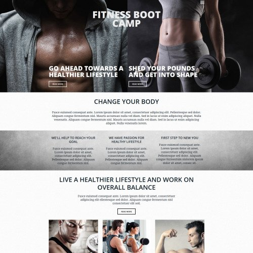 Fitness Boot Camp - MotoCMS 3 Template based on Bootstrap
