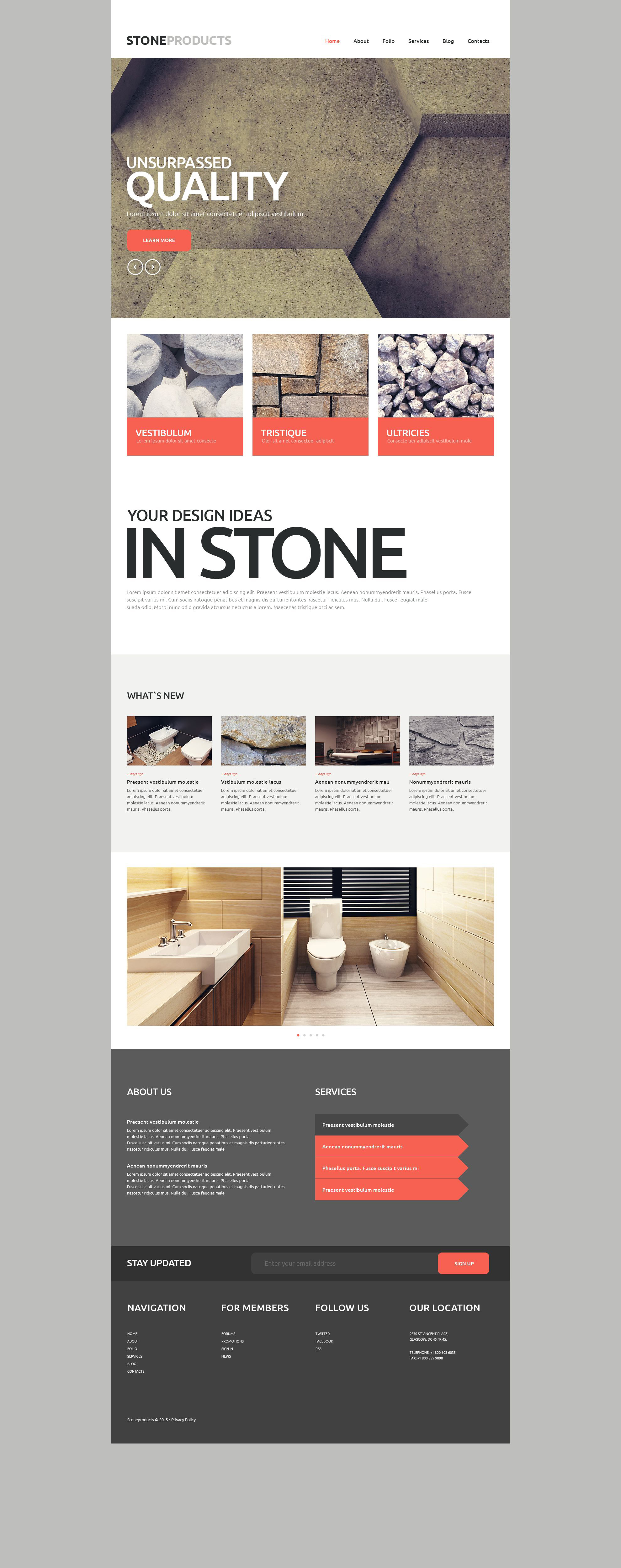 """Flooring Products"" Responsive Website template №53751 - screenshot"