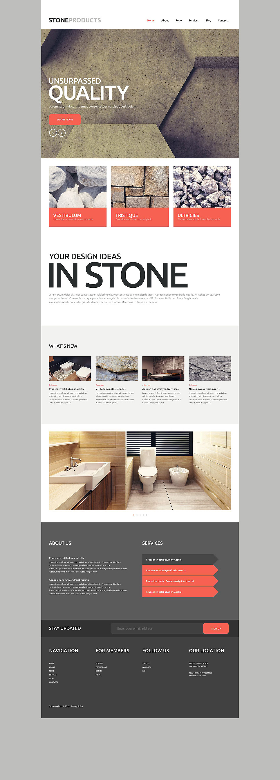 Flooring Products Website Template New Screenshots BIG