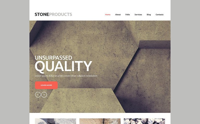 Flooring Products Website Template