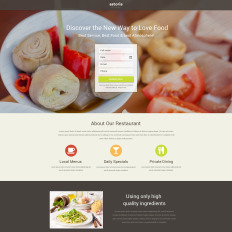 free restaurant landing page template - Page Free