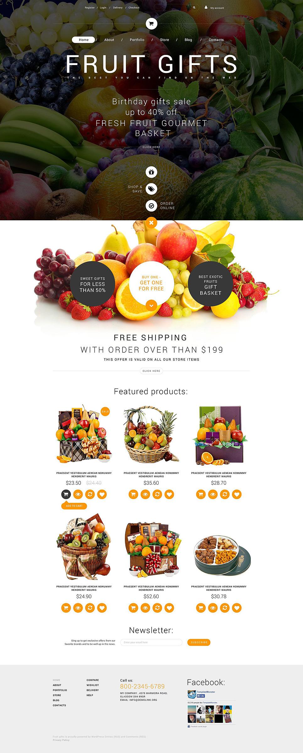 Fruit Gifts WooCommerce Theme New Screenshots BIG