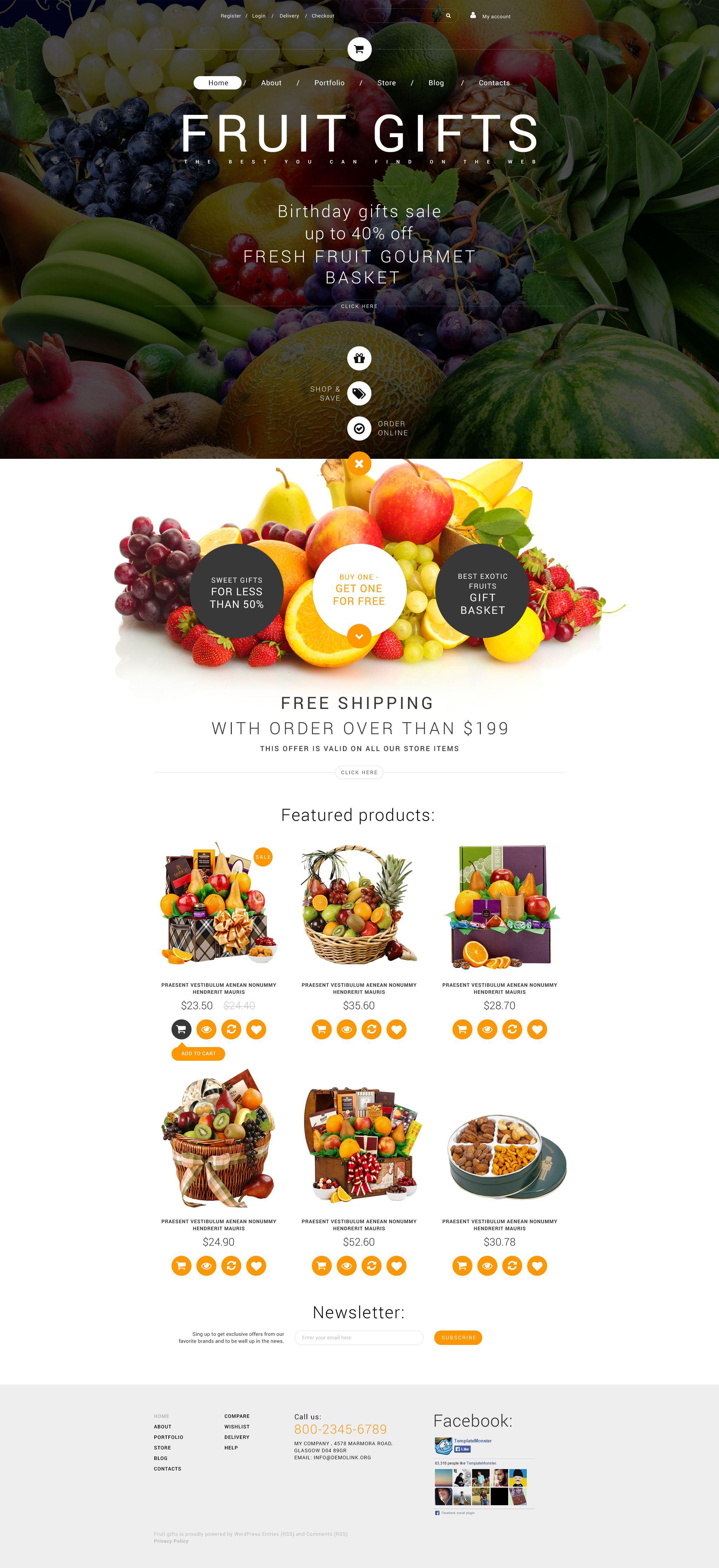 Fruit Gifts WooCommerce Theme