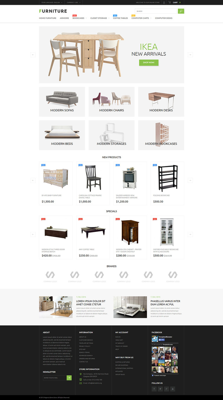 Furniture Store Magento Theme New Screenshots BIG