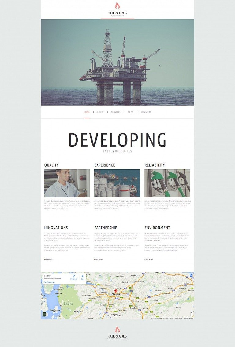 Gas & Oil Responsive Moto CMS 3 Template New Screenshots BIG