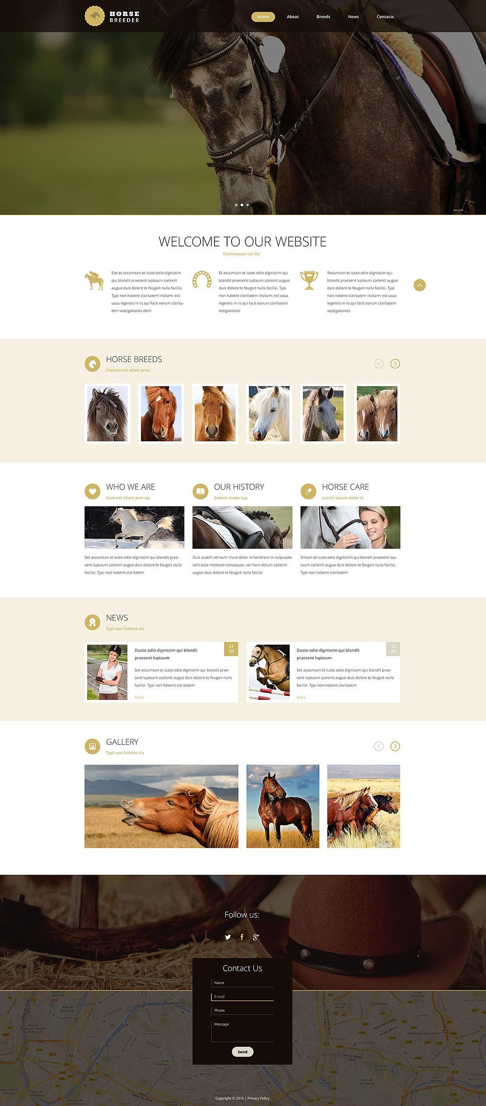 Horse Breeder Website Template New Screenshots BIG