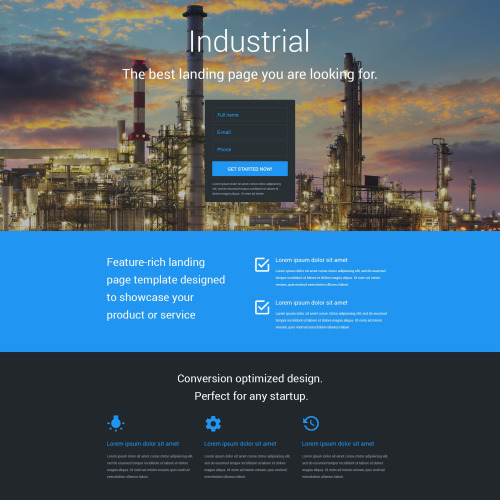 Industrial - Responsive Landing Page Template