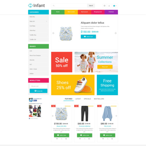 Infant  - OpenCart Template based on Bootstrap