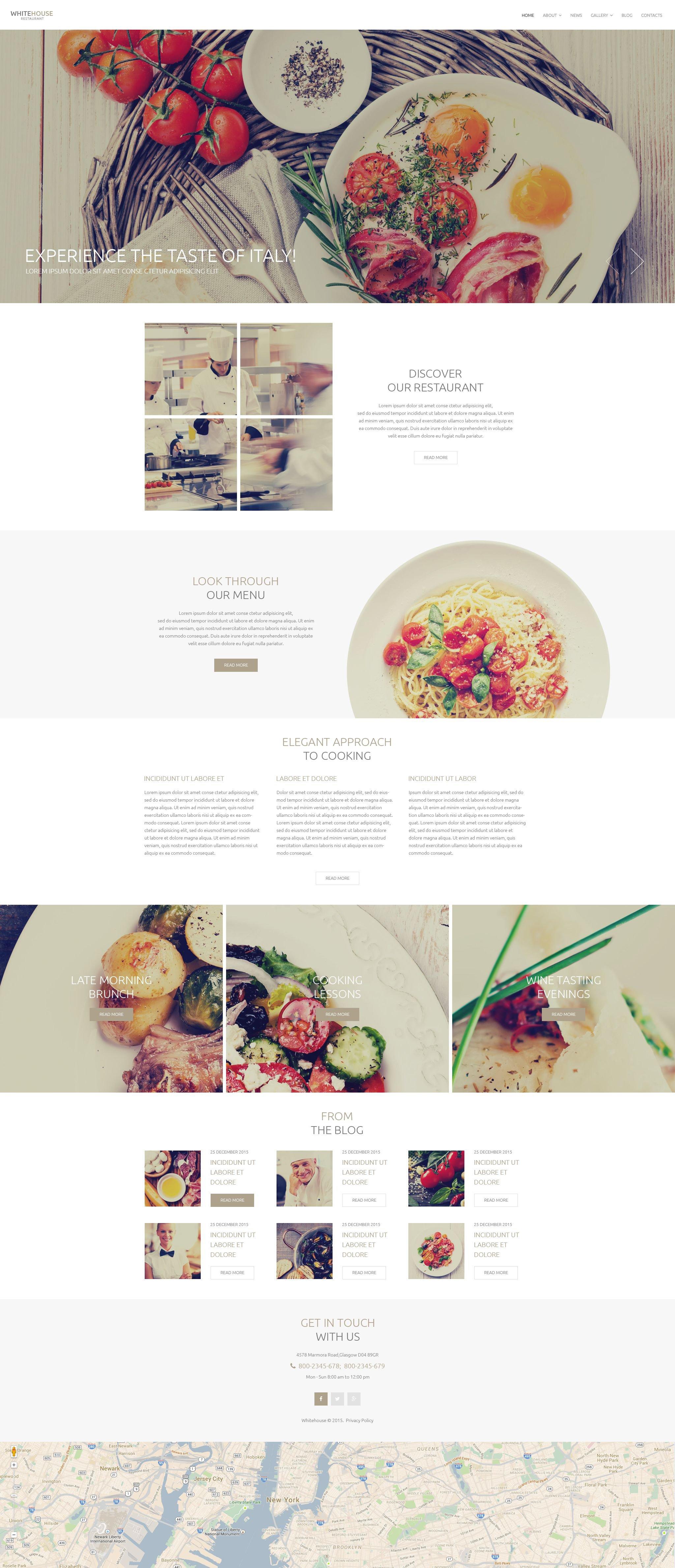 """Italian Cuisine"" - адаптивний Drupal шаблон №53752"