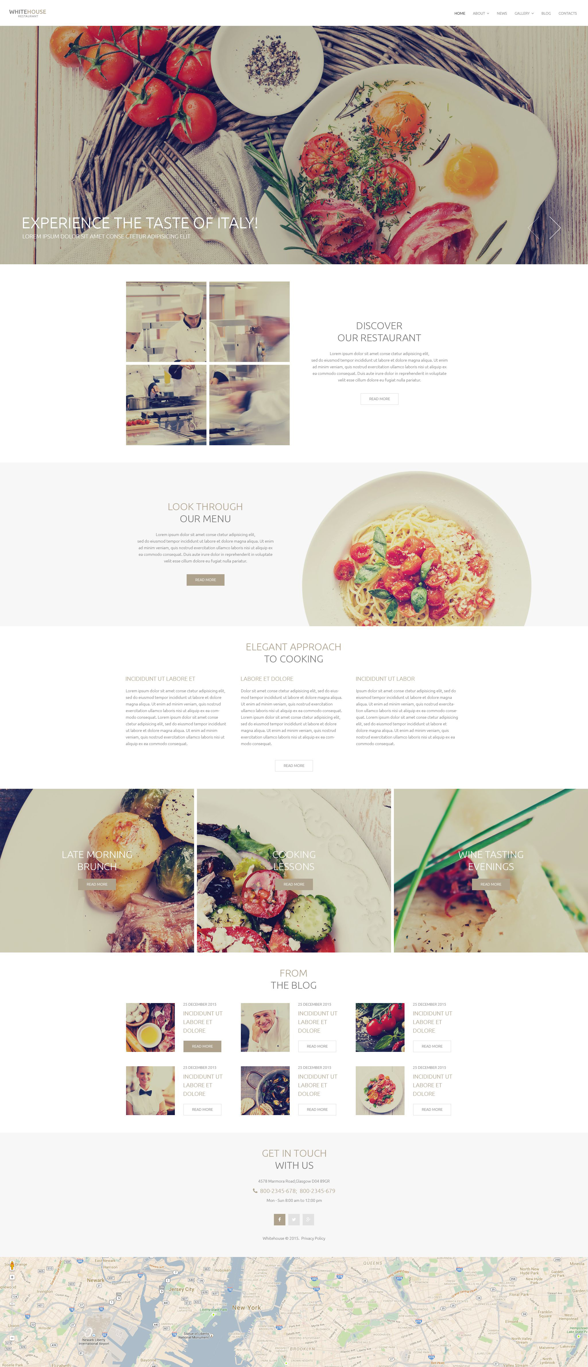 Italian Cuisine Drupal Template - screenshot
