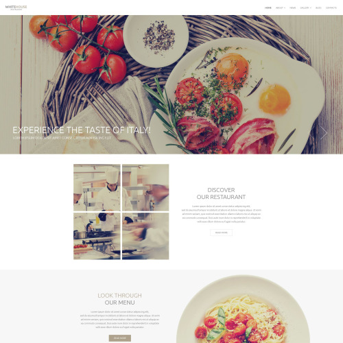 White House Caf�  - Responsive Drupal Template