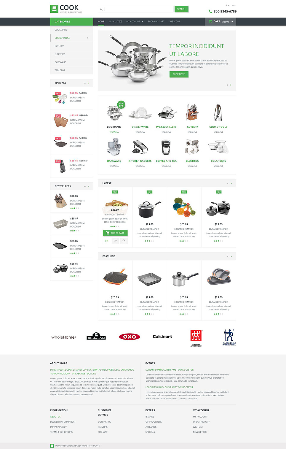 Kitchen Supplies Store OpenCart Template New Screenshots BIG