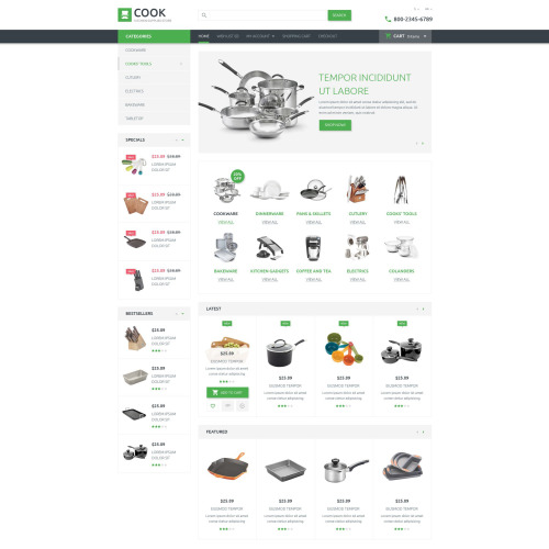 Cook - OpenCart Template based on Bootstrap