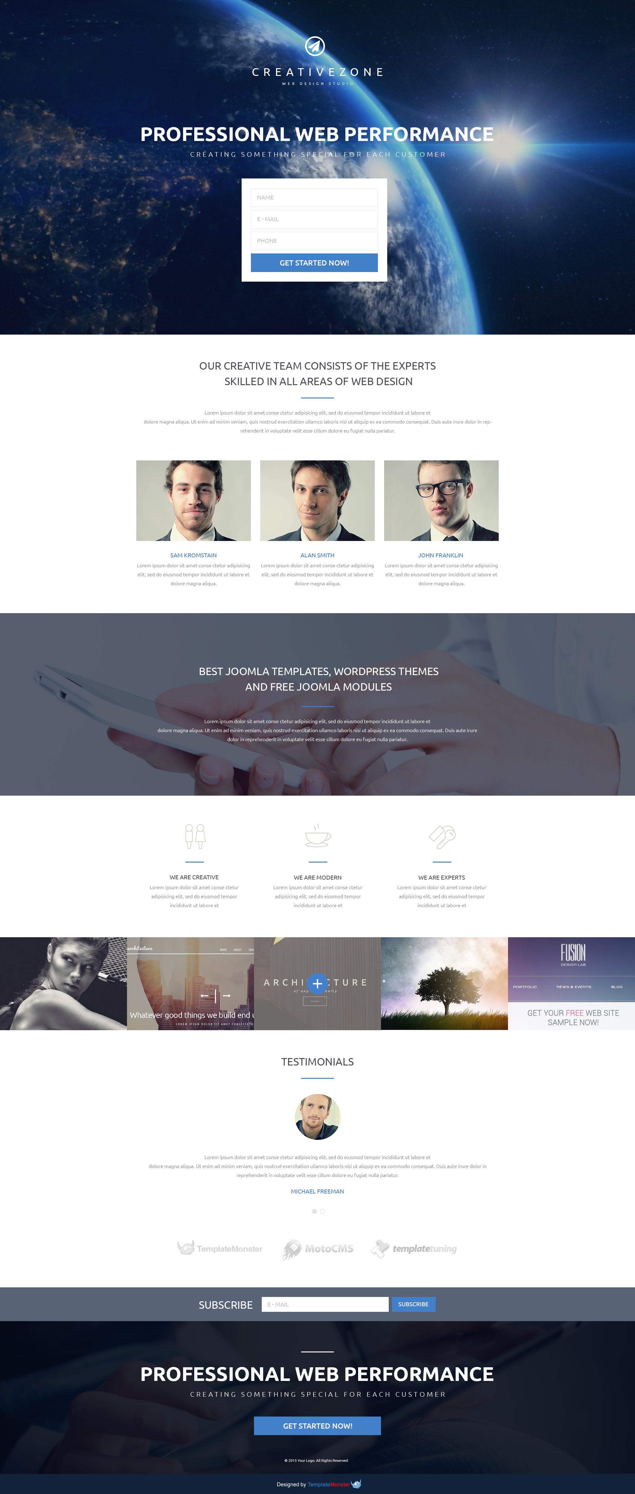 Landing Page Template #53775 für Design