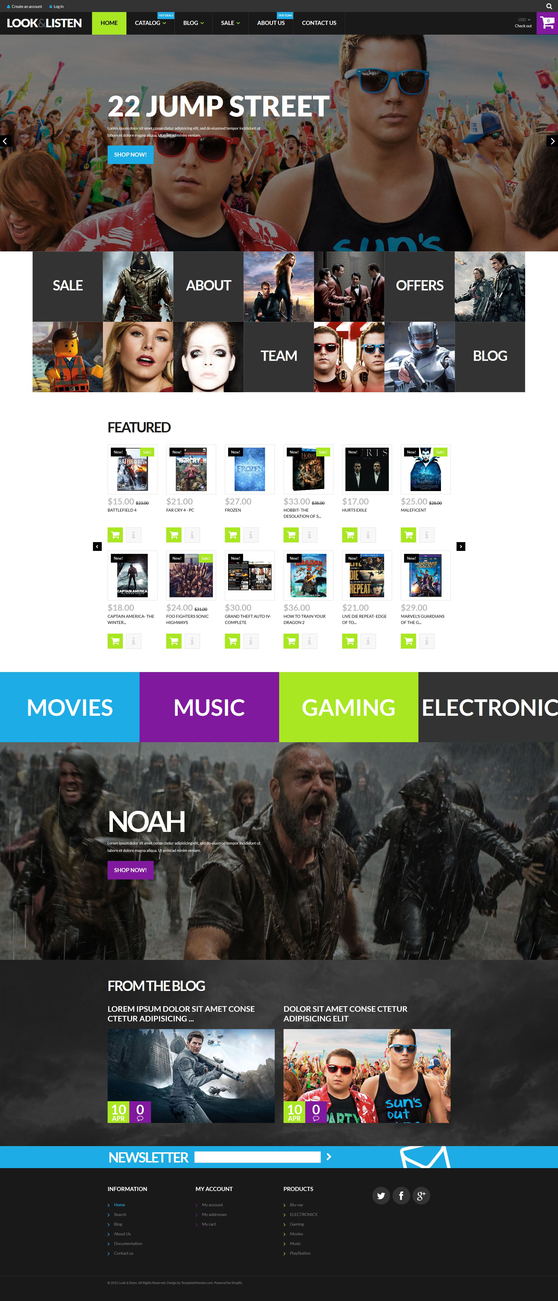 Look Listen  Play Shopify Theme
