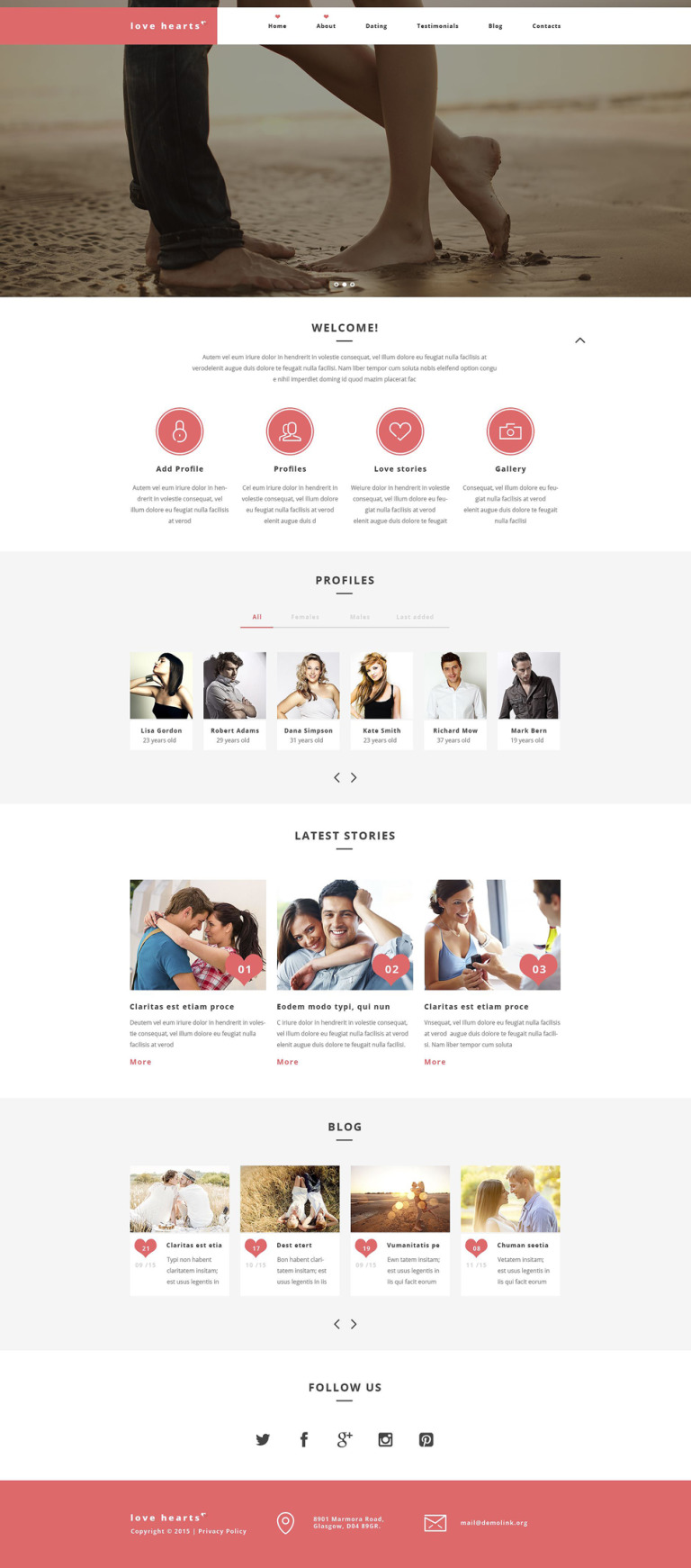 Love Hearts WordPress Theme New Screenshots BIG