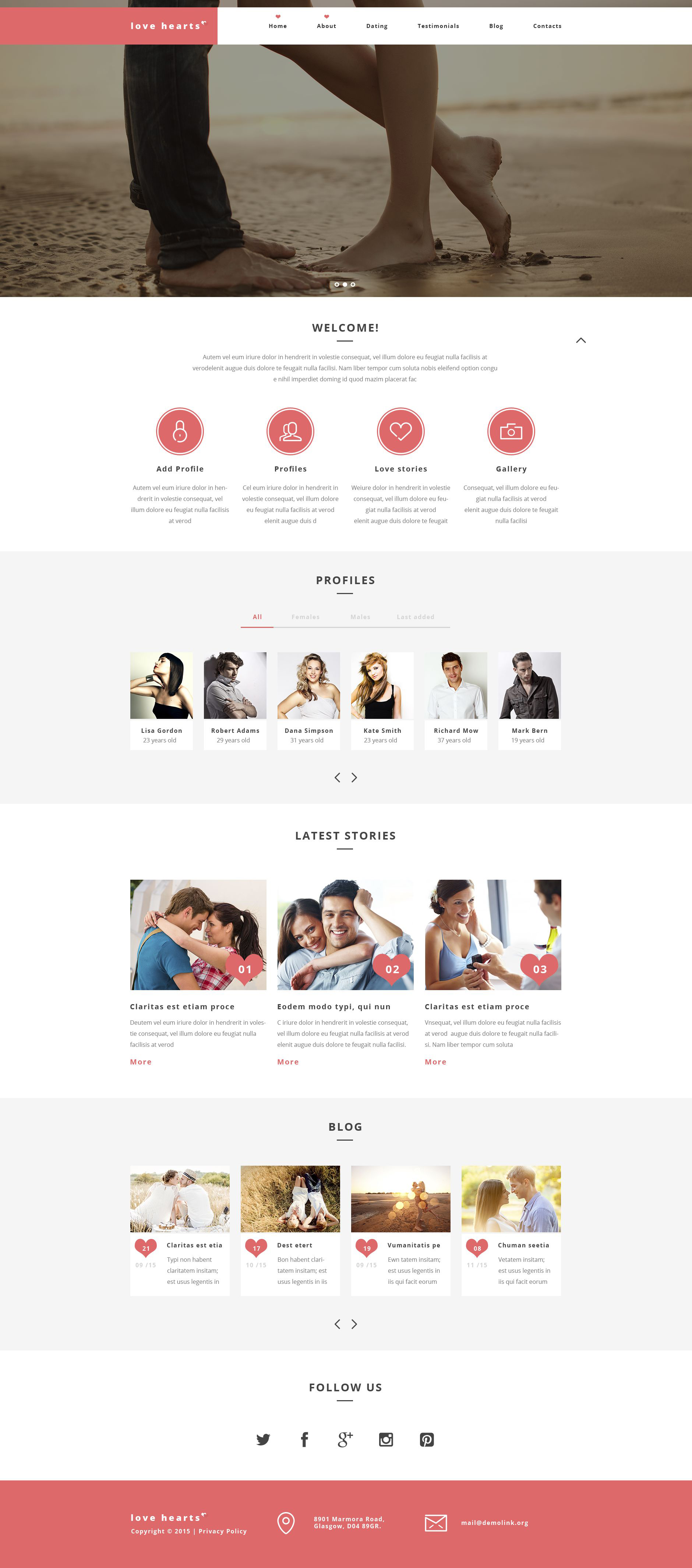 Love Hearts WordPress Theme - screenshot