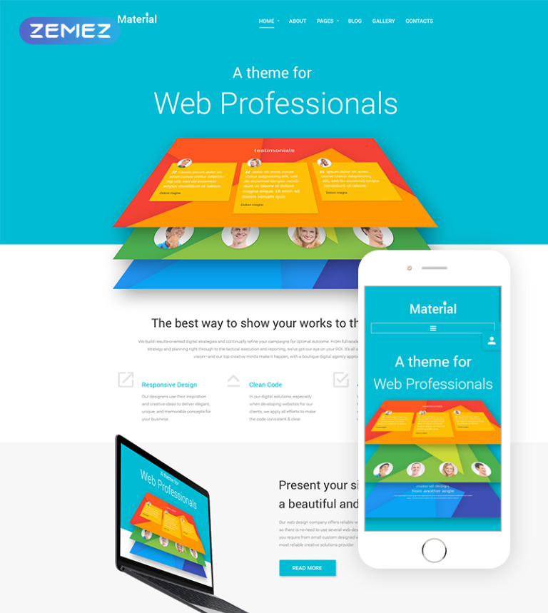 Material Joomla Template New Screenshots