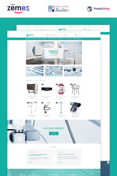 Medical Equipment Responsive PrestaShop шаблон