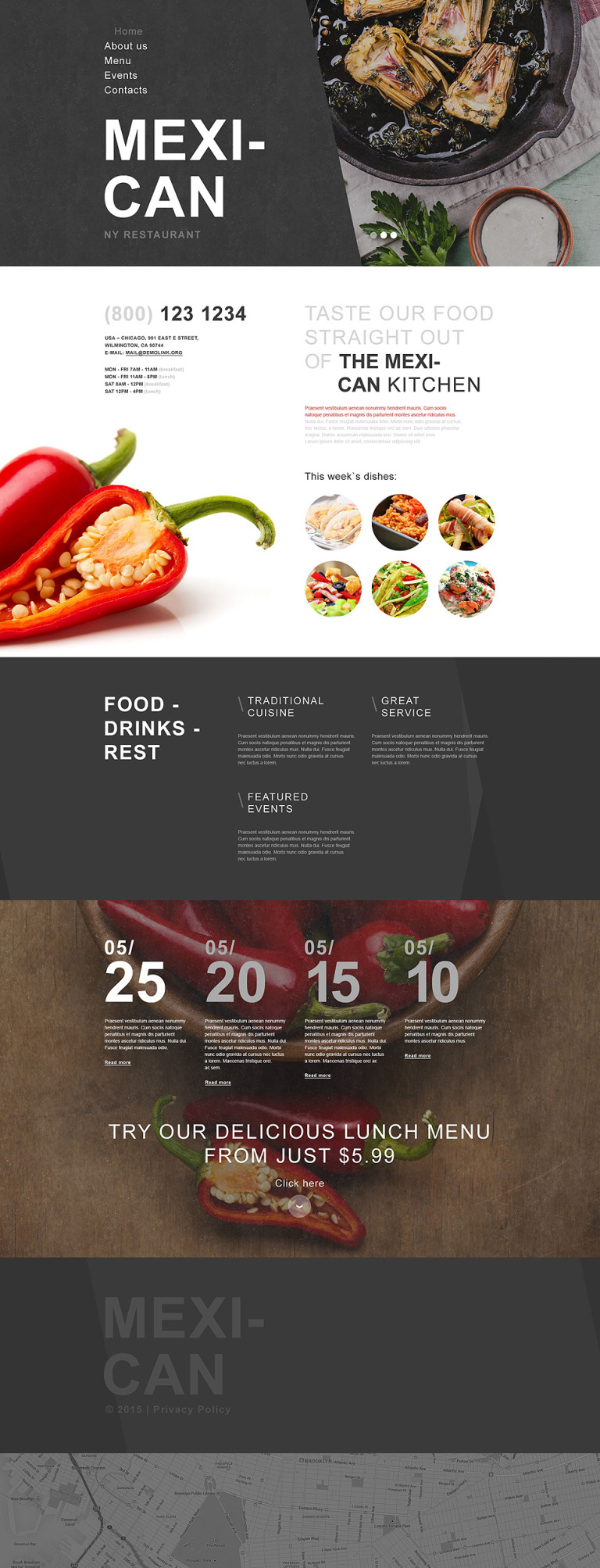 Mexican Restaurant Muse Template New Screenshots BIG