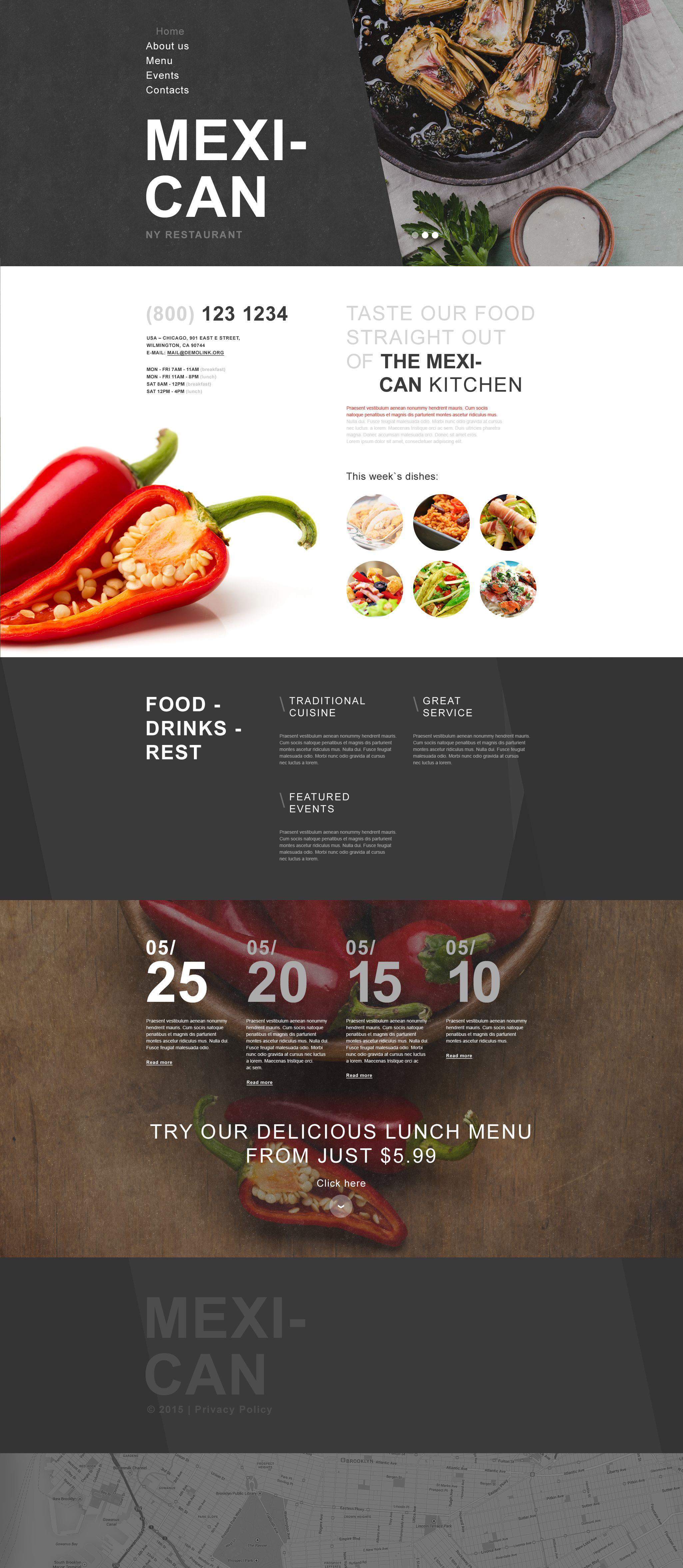 Mexican Restaurant Muse Template