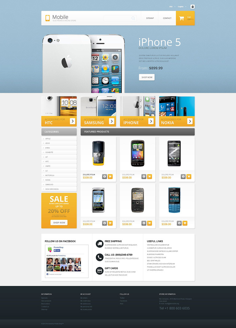 Mobile - Electronics Store PrestaShop Theme New Screenshots BIG