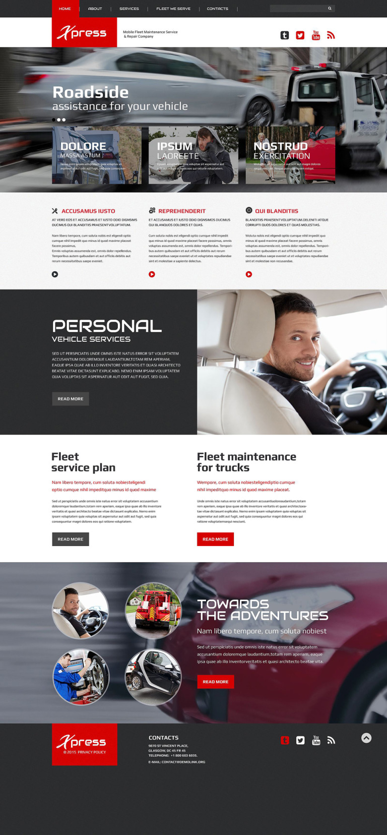 Mobile Repair Service Responsive Website Template New Screenshots BIG