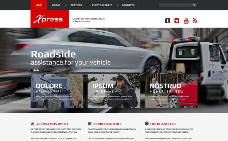 Mobile Repair Service Responsive Website Template